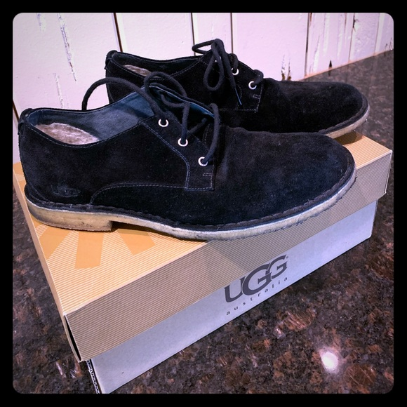 UGG Other - UGG Chaucer Black Suede Lace Up Casual Shoe